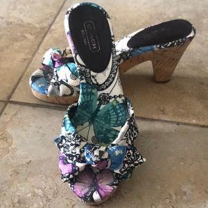Coach Sandal 3 in heels, size 5.5